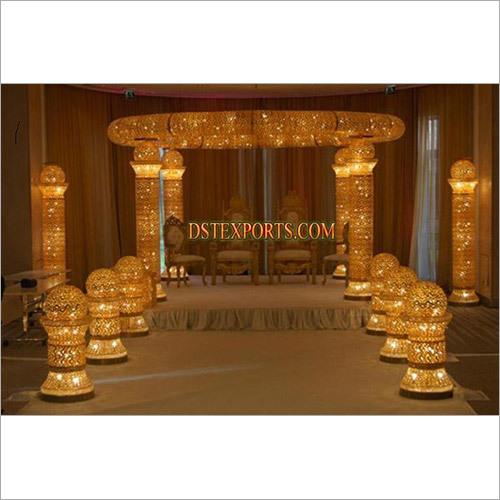 golden Jewel crystal  Mandap set
