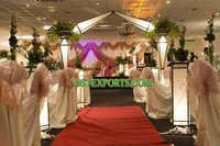 WEDDING LIGHTED PILLARS STAGE SET