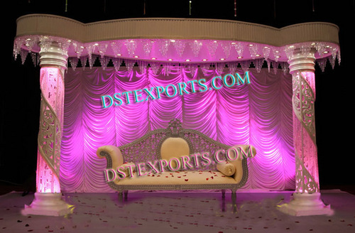 LATEST WEDDING FIBER CRYSTAL STAGE SET