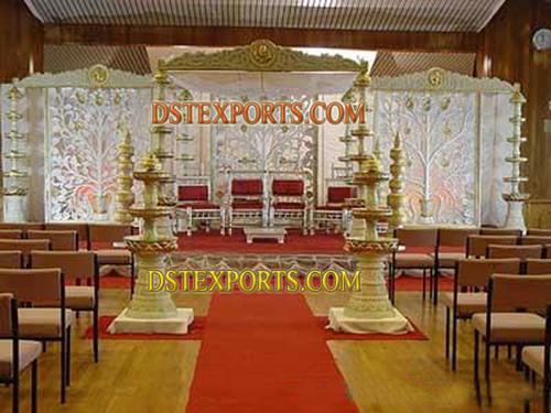 WEDDING FOUNTAIN PILLARS STAGE SET