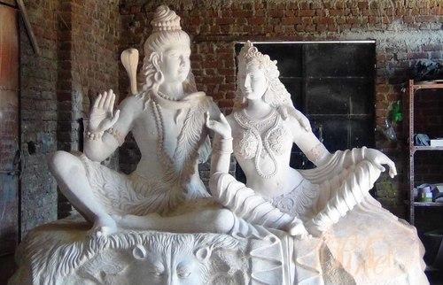 Grc Shiv Parvati Sculpture