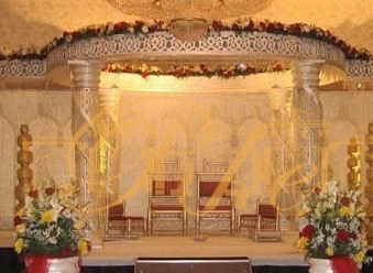 Crystal Wooden Mandap