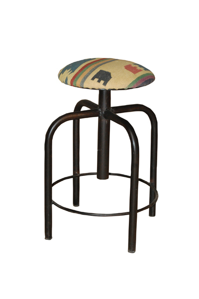 Revoling Stool with Durry Seat