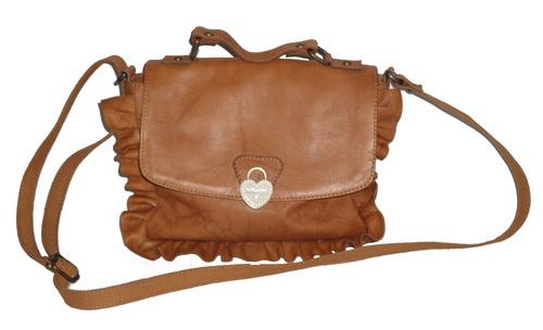 Leather Ruffle Bag