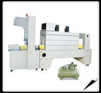 Semi-auto sleeve wrapper + PE film shrink packaging machine