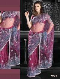 Designer Handwork Net Saree