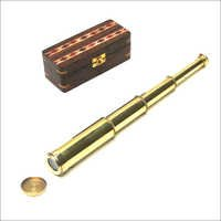 Solid Brass Pullout Telescope With Box