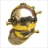 Divers Helmet Mark Five Solid Brass Plain