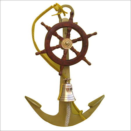 Aluminium Anchor With Ship Wheel Bell
