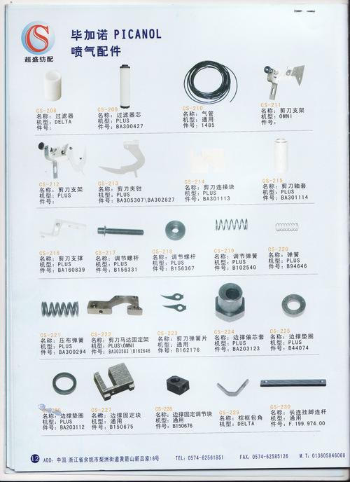 Picanol Loom Parts