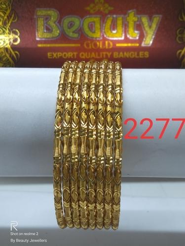 Diamond Cut Brass Bangles