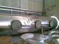 Insulation Of 2 Mtr Dia Pipe - Aluminum Cladding