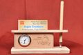 Wooden VC + Pen Stand Holder with Watch