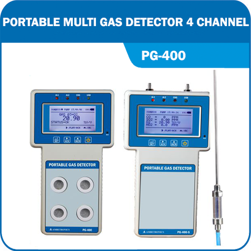 Portable Multi Gas Detector 4 Channel