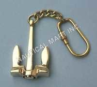NAUTICAL SOLID BRASS ANCHOR KEY CHAIN