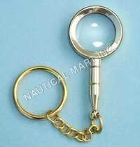 BRASS NAUTICAL MAGNIFYING KEY CHAIN