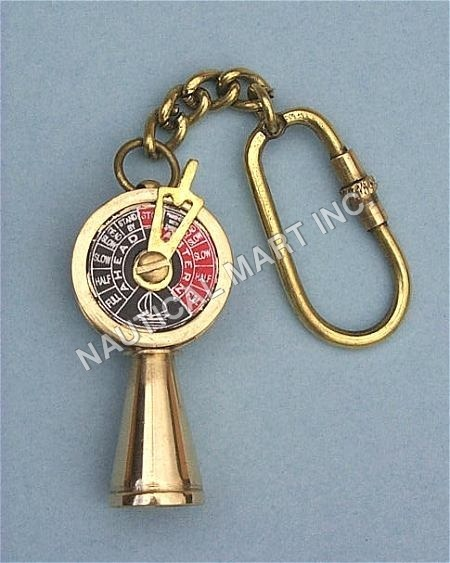 VINTAGE BRASS TELEGRAPH KEY CHAIN