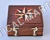 NAUTICAL WOODEN SMALL CASE OF KEY CHAIN