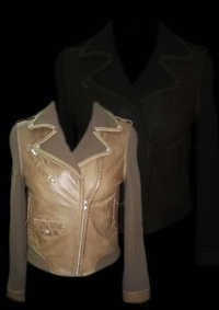 Womens Collar Leather Jacket