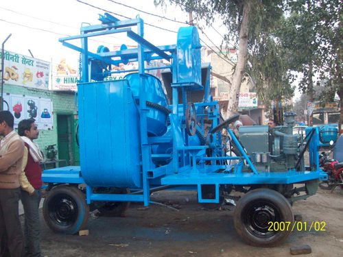 Two Tower Mobile Concrete Mixer With Gear System