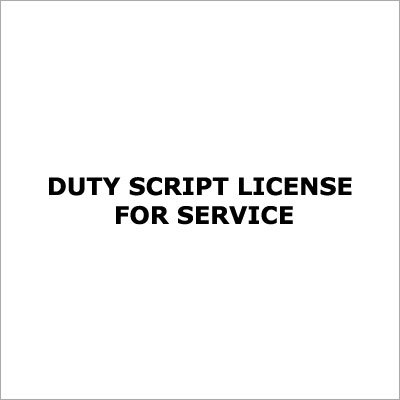 Duty Script License