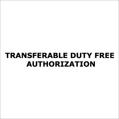 Duty Free Import Authorisation