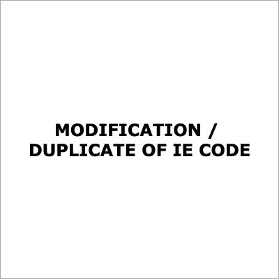 Modification In Import Export Code