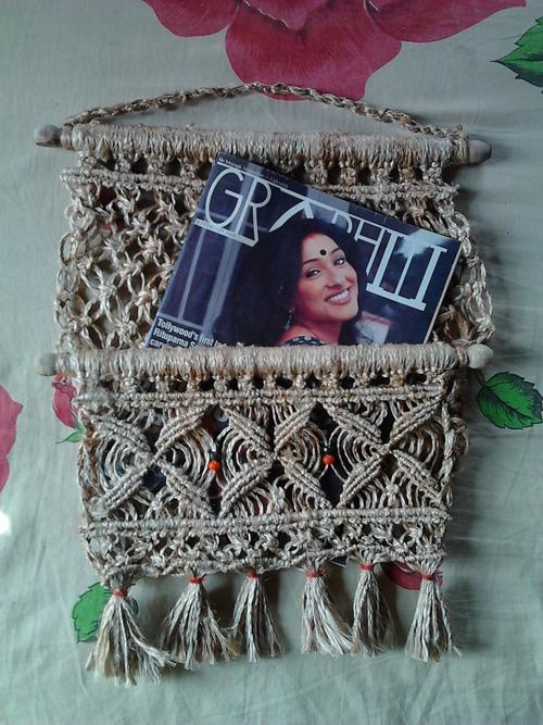 Jute Magazine Holder