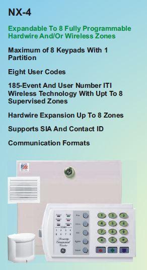 GE Alarm Panel NX4