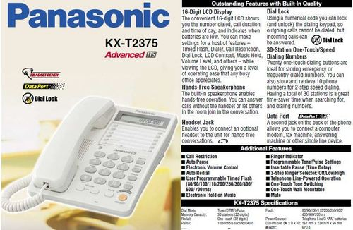 Panasonic speakerphone KX - T2375
