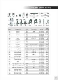 Sulzer Camplate Parts