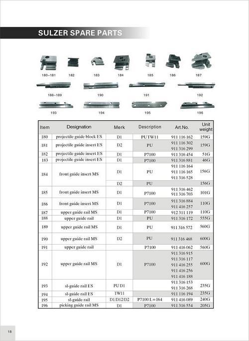 Sulzer Projectile Guide Block