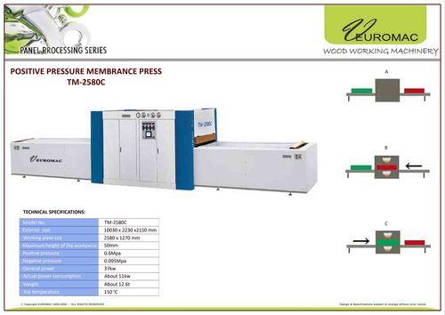 Positive Pressure Membrane Press