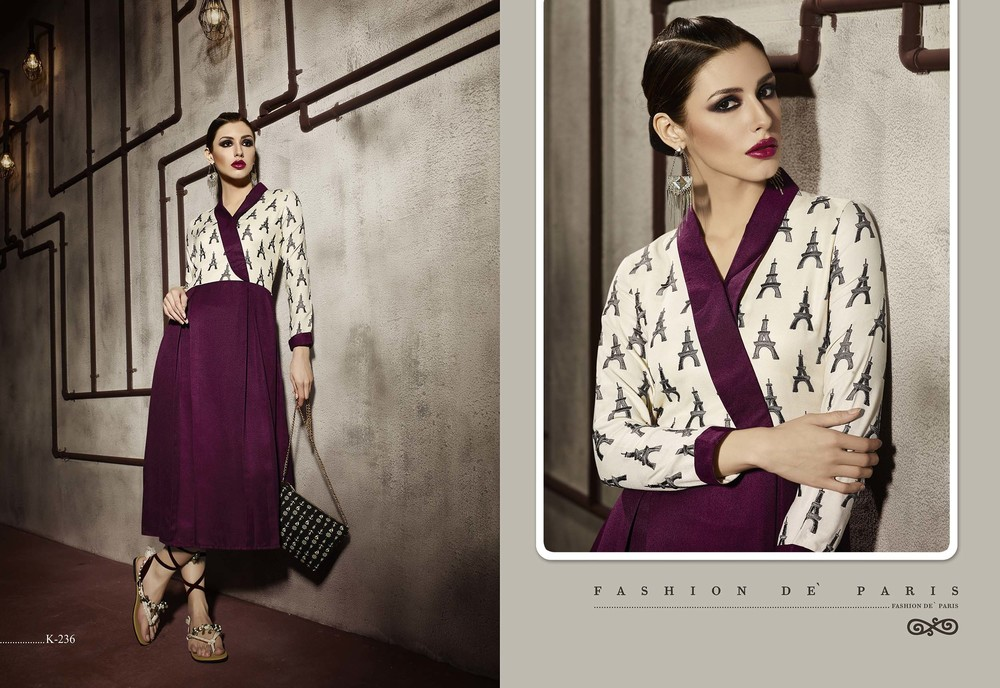 Designer Cotton Printed Kurtis