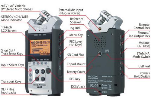 Zoom H4n Handy Professional Recorder Zoom H4n Handy Professional