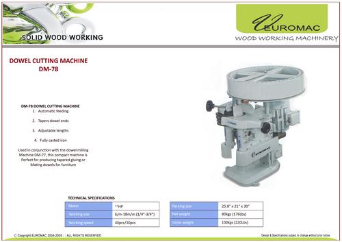 Dowel Machine