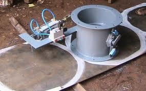PNEUMATIC BUTTERFLY DAMPERS