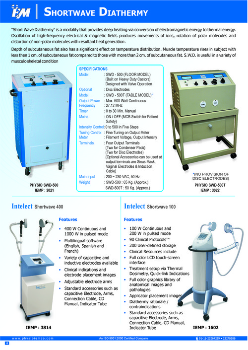 Shortwave Diathermy Units