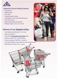 Chrome Plated Shopping Trolleys