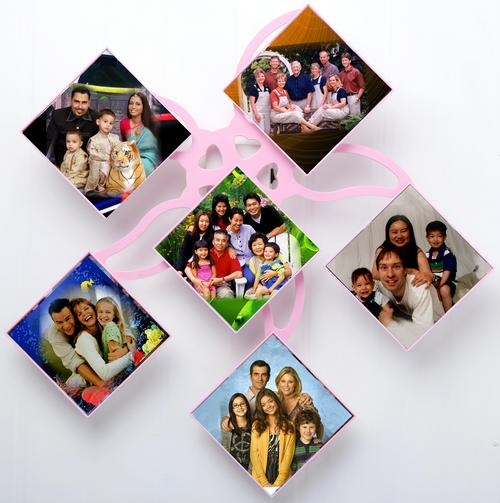 Wall Rotating Photo Frames