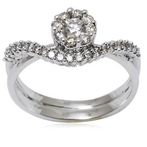 Diamond Ring Pressure Setted rings