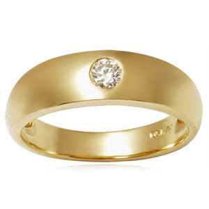 Mens Gold Diamond Band rings