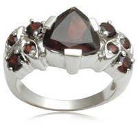 Garnet Silver Rings