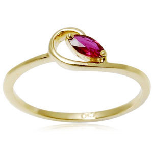 Light weighted Ruby Gold Rings