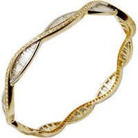 Partywear Designer Diamond Gold Bangles