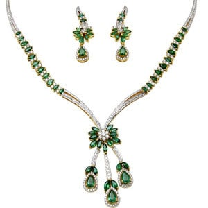 Emerald Gold Necklaces