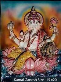Ganesh Ji Sitting On Kamal