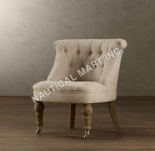 Vintage Sophie Tufted Slipper Chair