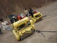 Canal slope Compaction Vibratory Roller