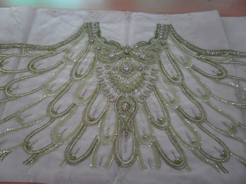 net with crystal embroidery